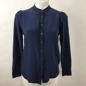 Madewell Blouse Long Sleeves Pajama Style Silk S